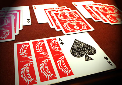 slow motion four aces