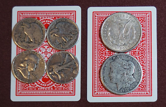 card and coins