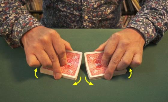 Table riffle shuffle 04