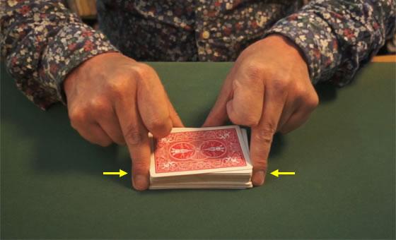 Table riffle shuffle 10